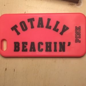 Pink totally beachin' iPhone 6s or 7 phone case